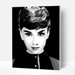 Paint by Numbers Kit - Audrey Hepburn