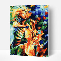 Paint by Numbers Kit - Cello Player - BlingPainting