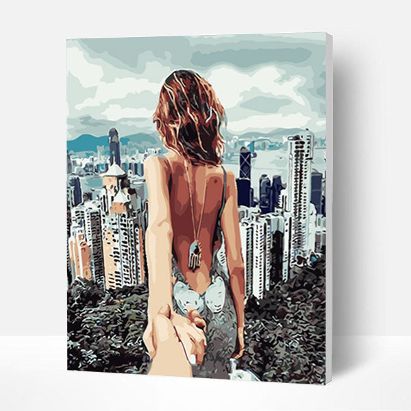 Paint by Numbers Kit - Follow Me To New York - BlingPainting