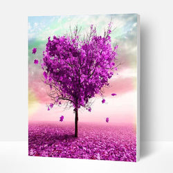Paint by Numbers Kit - Purple Heart Tree - BlingPainting