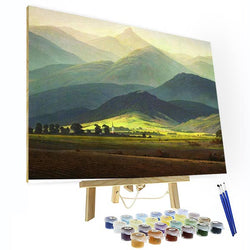 Paint by Numbers Kit - Mountain Meadows - BlingPainting