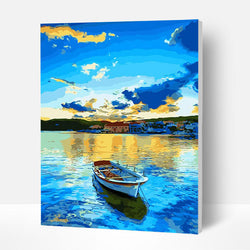Paint by Numbers Kit - Boat In The Ocean - BlingPainting