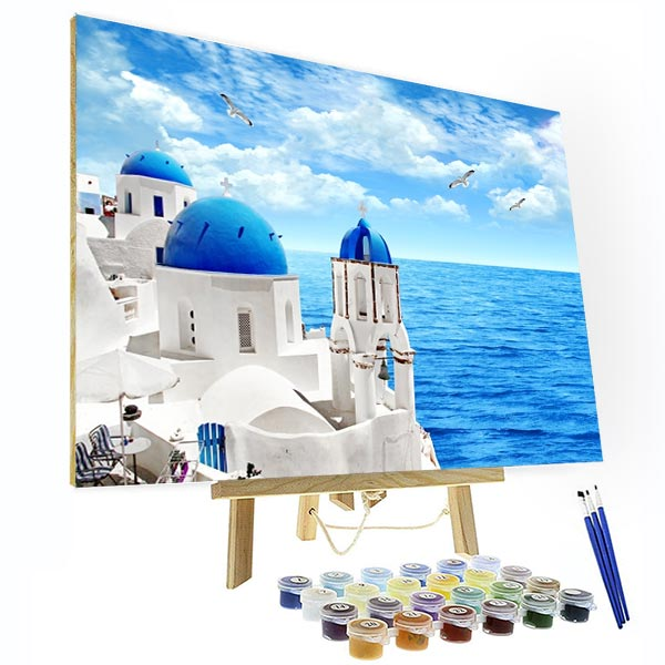 Paint by Numbers Kit -  Aegean Sea - BlingPainting