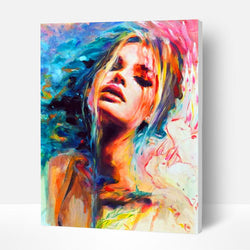 Paint by Numbers Kit - Colorful Woman - BlingPainting