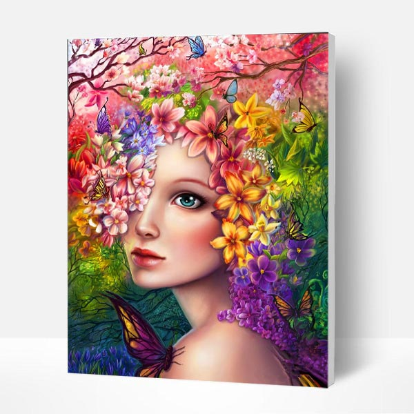 Paint by Numbers Kit - Flowers Surround