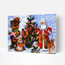 Christmas Paint by Numbers Kit - Santa Claus and Christmas Tree