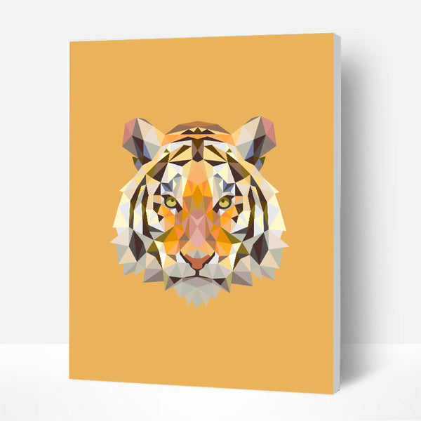 Paint by Numbers Kit for Kids - Yellow Tiger