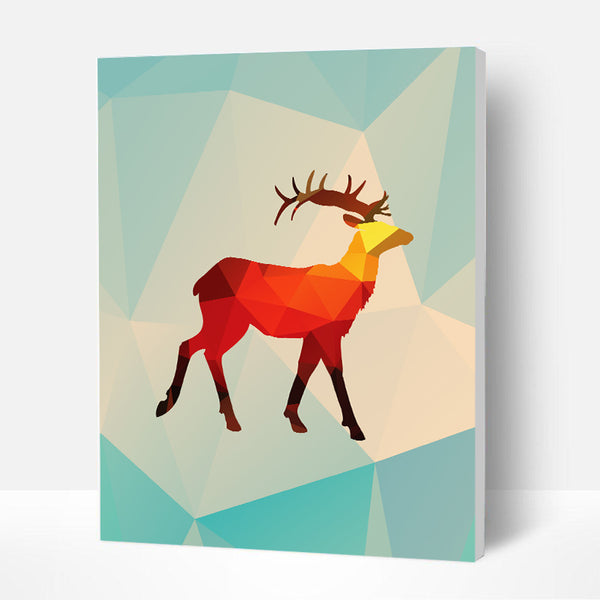 Paint by Numbers Kit for Kids - Colorful Mirror Deer