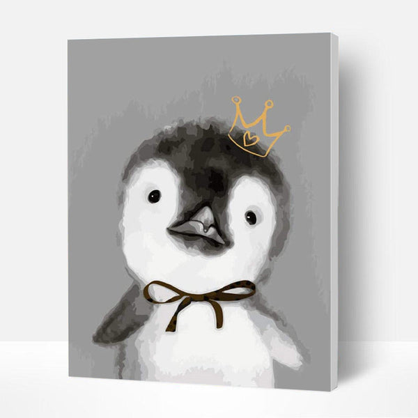 Paint by Numbers Kit for Kids - Penguin with Crown