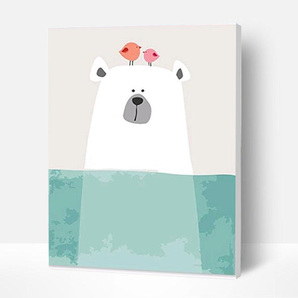 Paint by Numbers Kit for Kids - Cute Polar Bear
