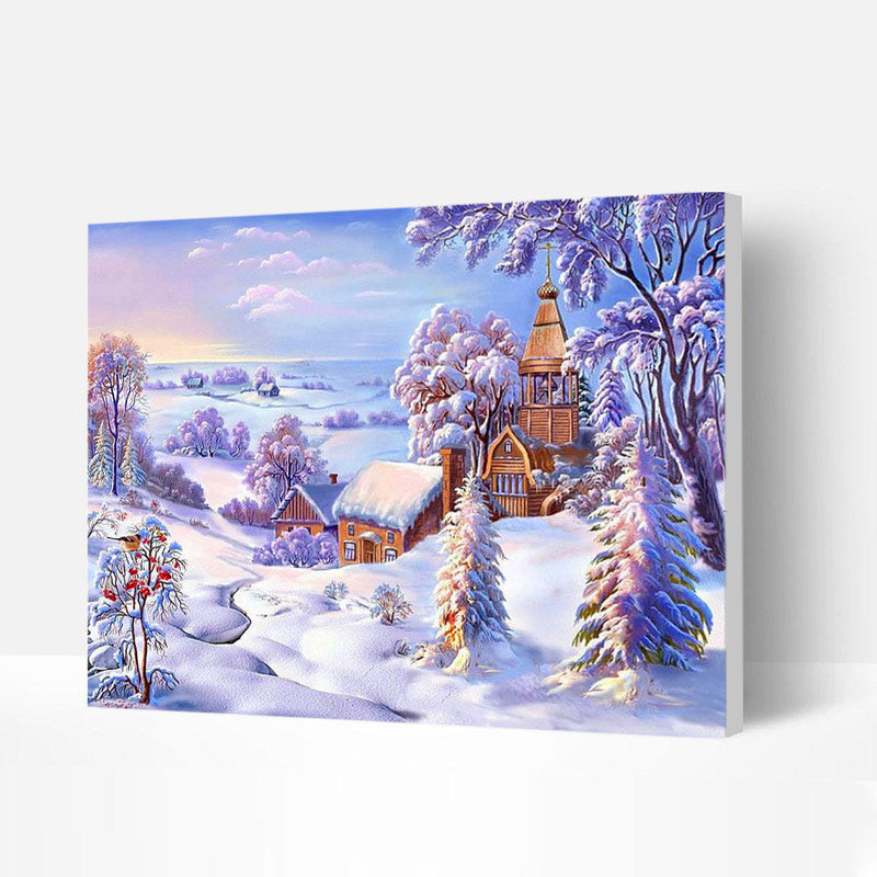 Paint by Numbers Kit - Scenery after Snow
