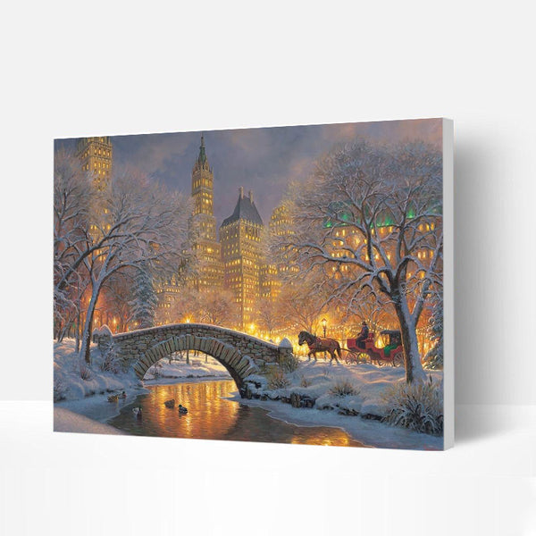 Paint by Numbers Kit - Winter City Night View