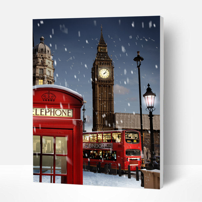 Paint by Numbers Kit - London in the Snow