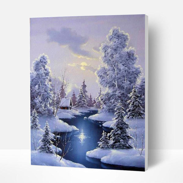 Paint by Numbers Kit - Forest after Snow