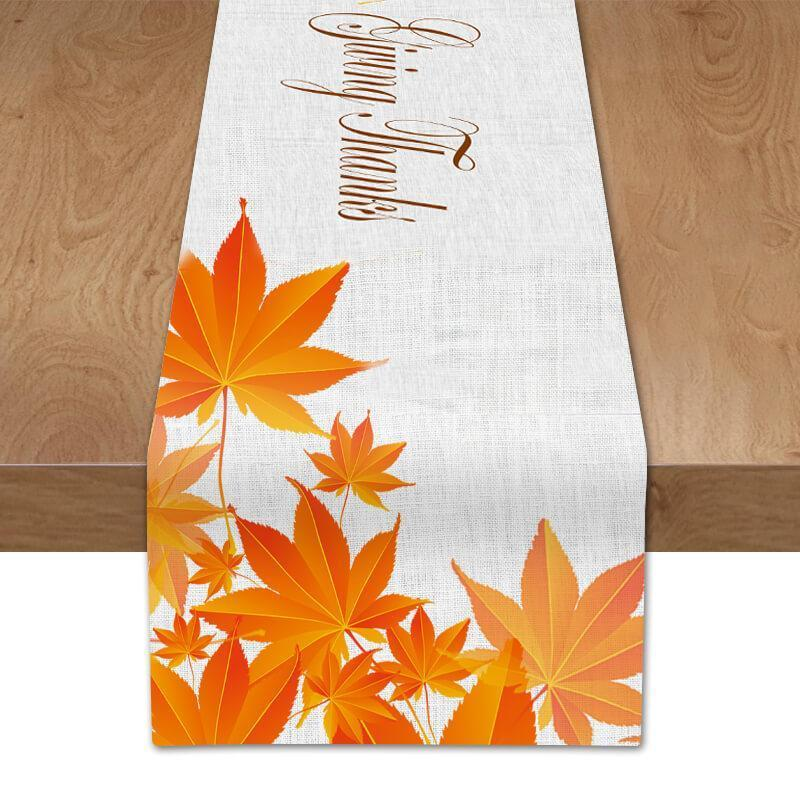 Thanksgiving Fall Table Runner C - BlingPainting
