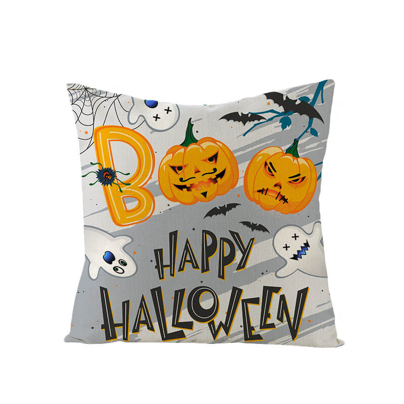 Halloween Decor Linen Halloween Party Throw Pillow