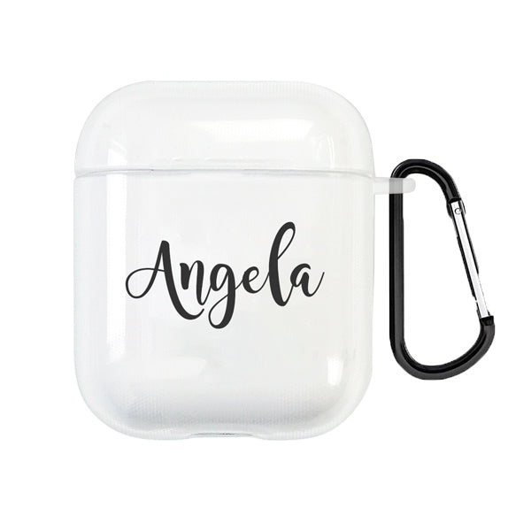 Custom Name AirPods 1&2 Case With Keychain - BlingPainting