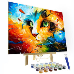 Paint by Numbers Kit - Mysterious Kitten - BlingPainting