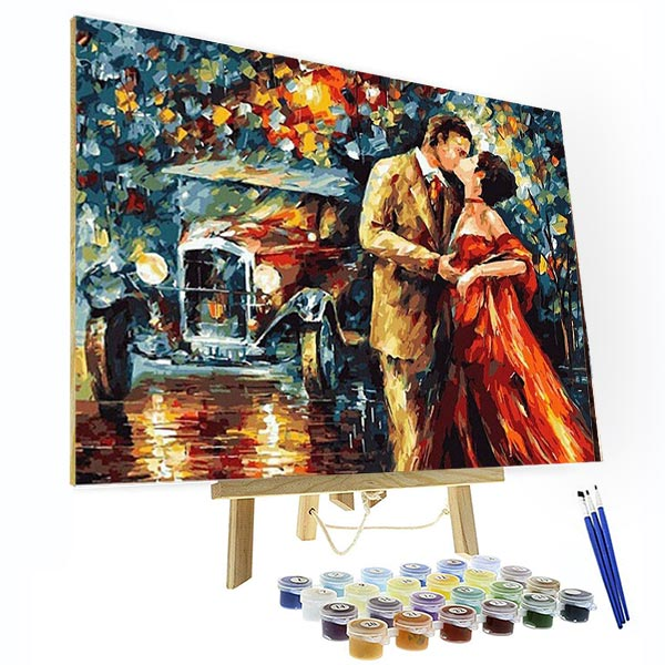 Paint by Numbers Kit -Sweet Kiss - BlingPainting