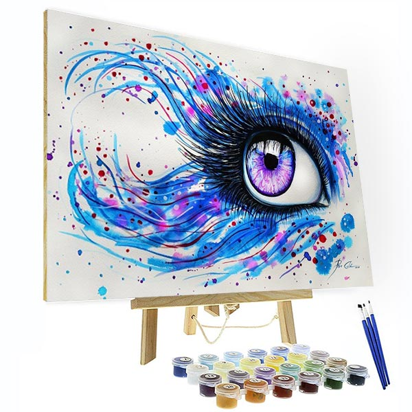 Paint by Numbers Kit -  Colorful Sight - BlingPainting