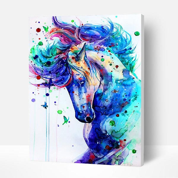 Paint by Numbers Kit -  Colored Horse - BlingPainting