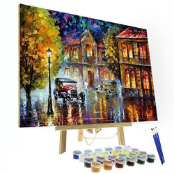 Paint by Numbers Kit -  Driving In The Rain - BlingPainting