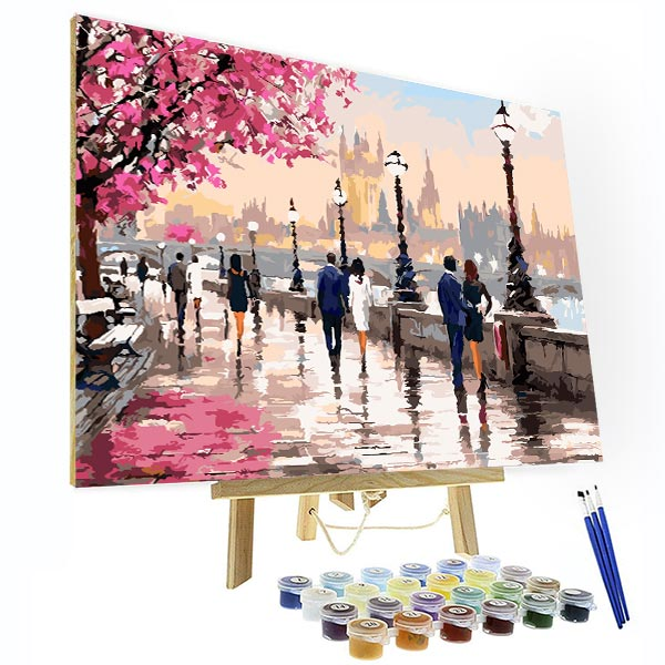 Paint by Numbers Kit -  Along The River - BlingPainting