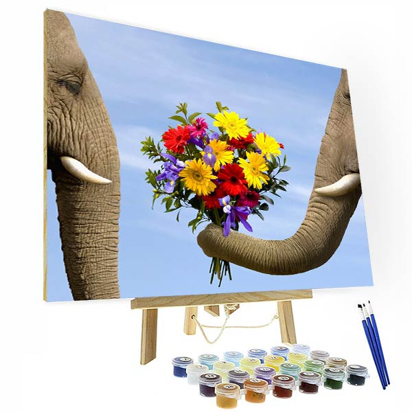 Paint by Number Kit   --  Sunflower under the blue sky - BlingPainting