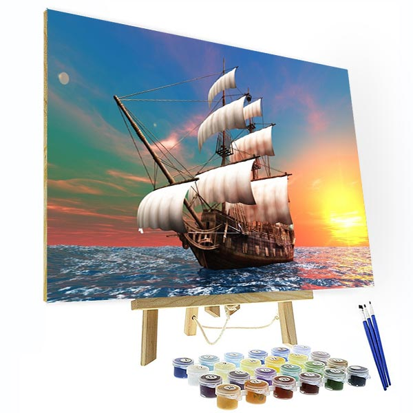 Paint by Numbers Kit - Sailing Back