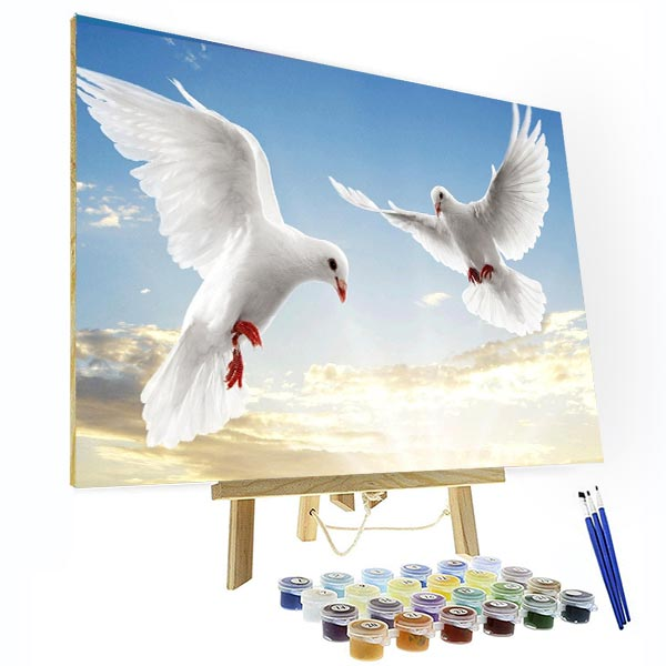Paint by Numbers Kit - White Dove - BlingPainting