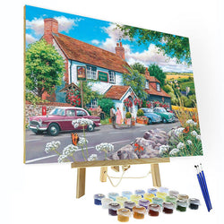 Paint by Numbers Kit - Small Town Scenery - BlingPainting