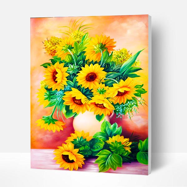 Paint by Numbers Kit -  Blooming Sunflower - BlingPainting