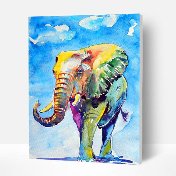 Paint by Numbers Kit -  Painted elephant - BlingPainting