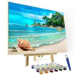Paint by Numbers Kit - Beautiful Beach - BlingPainting