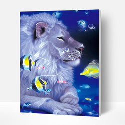 Paint by Numbers Kit - Lion In The Sea