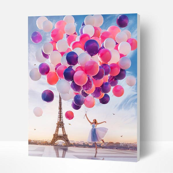Paint by Numbers Kit - Fly With Balloons
