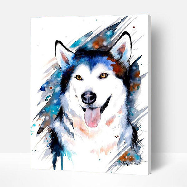 Paint by Numbers Kit -  Painted Dog - BlingPainting
