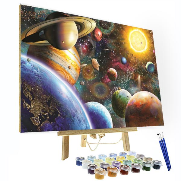 Paint by Numbers Kit - Solar System - BlingPainting