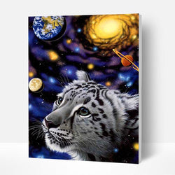 Paint by Numbers Kit - Space Fantasy Of Lion - BlingPainting