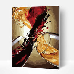 Paint by Numbers Kit - Heart-shaped Wine - BlingPainting
