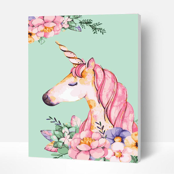 Paint by Numbers Kit for Kids-  Fantasy unicorn - BlingPainting