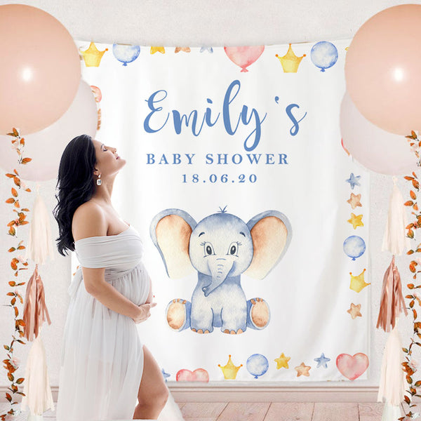 Custom Baby Shower Backdrop - BlingPainting