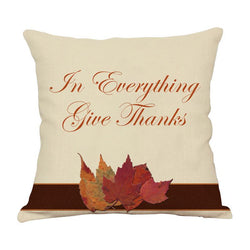 Thanksgiving Decor Text Throw Pillow D - BlingPainting