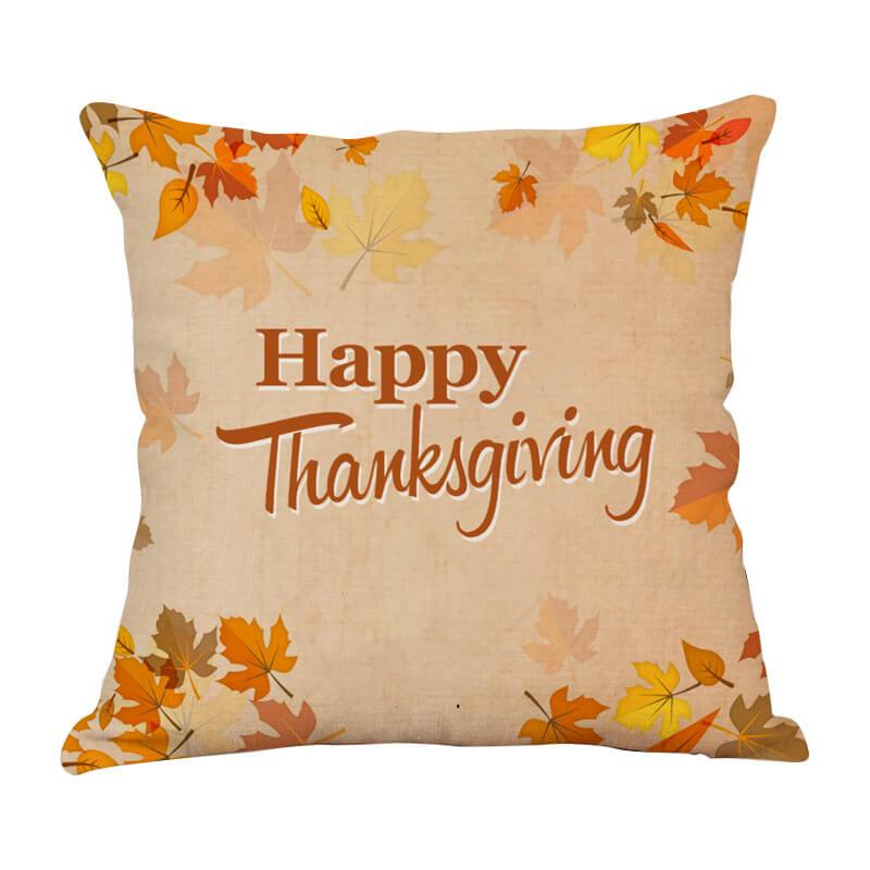Thanksgiving Decor Leaf Throw Pillow B - BlingPainting