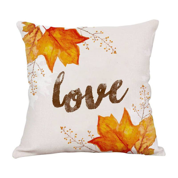 Thanksgiving Decor Leaf Throw Pillow - BlingPainting