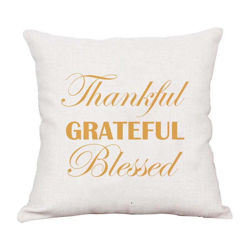Thanksgiving Decor Text Throw Pillow B - BlingPainting