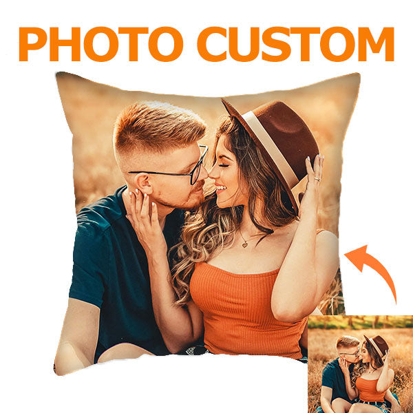 Personalized Throw Pillow with Photo - BlingPainting