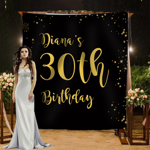 Custom Birthday Backdrop - BlingPainting