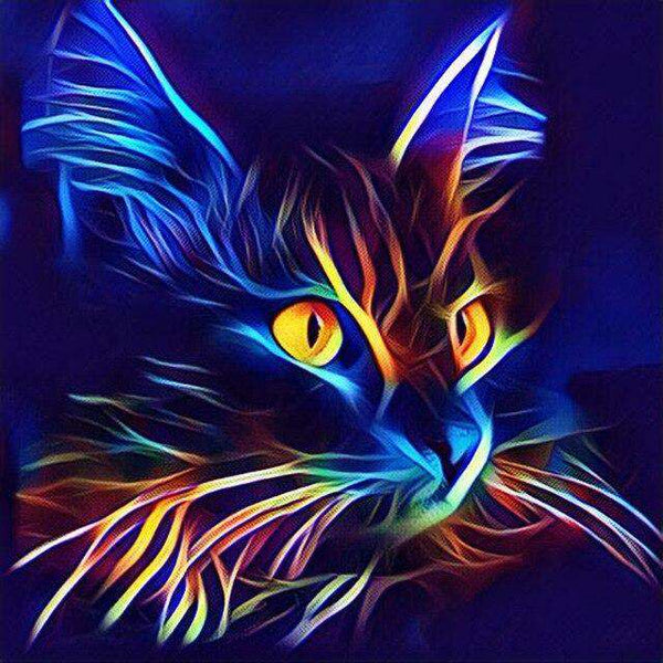 Black Cat Drawing - BlingPainting