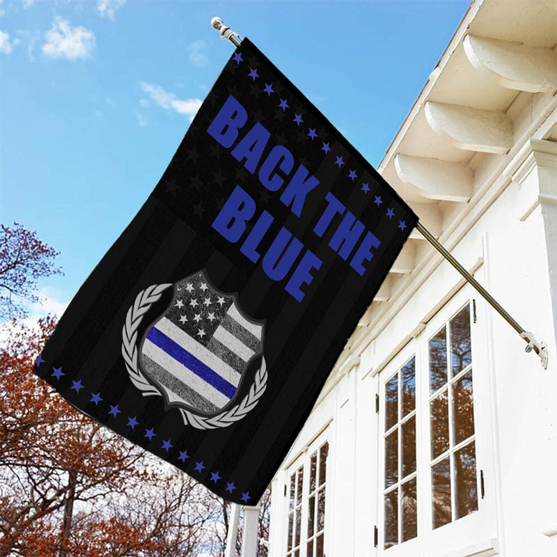 Blue Lives Matter Garden Flag/House Flag - BlingPainting